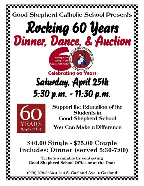 Rocking 60 Years Dinner, Dance, & Auction
